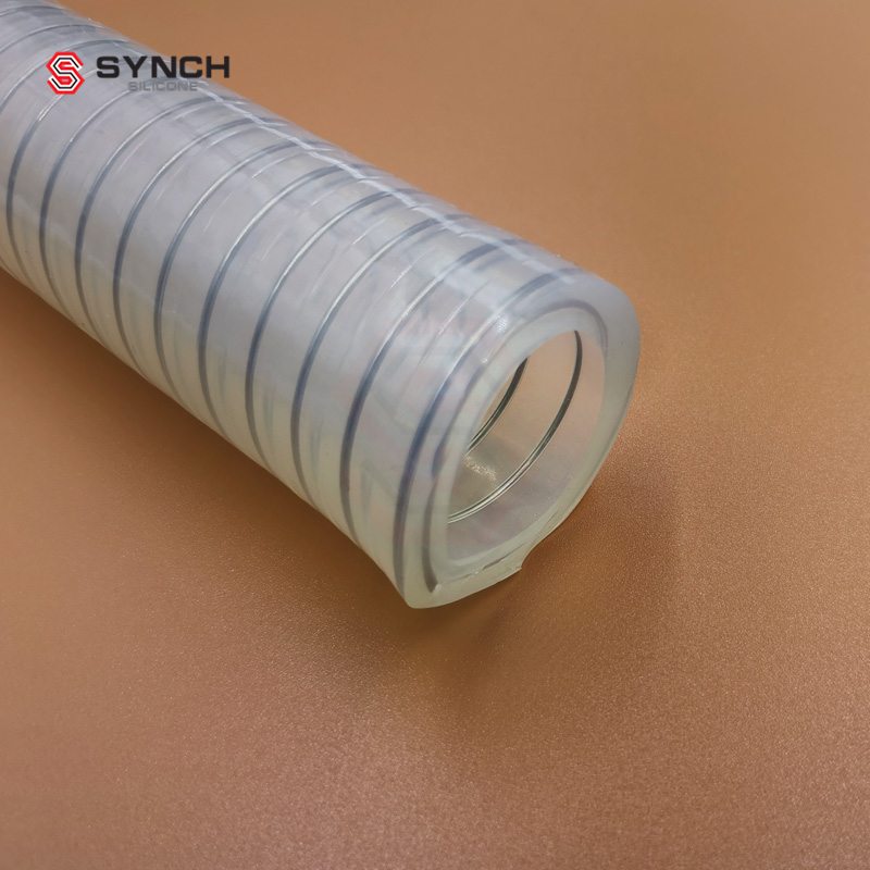 Silicone steel wire hose
