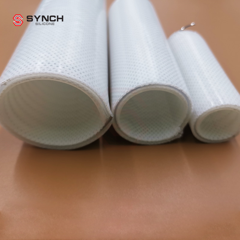Resistant 4-layer silicone reinforced steel wire hose